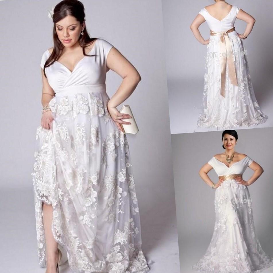 beach wedding wear plus size short beach wedding dress Beach Wedding Wear Plus Size 49