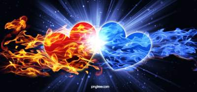Cool Heartshaped Blue Flame Hd Background Image, Blue, Radiance, Starlight Background Image for ...