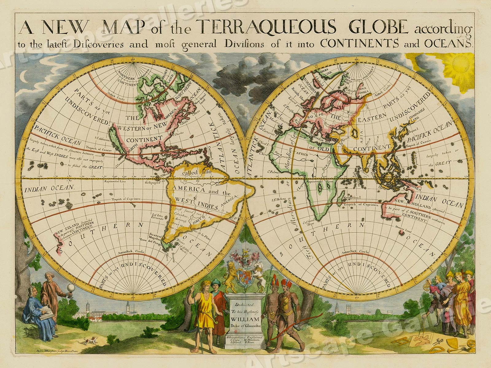 1700s    Terraqueous Globe    Vintage Style World Map   24x32   eBay Store Categories