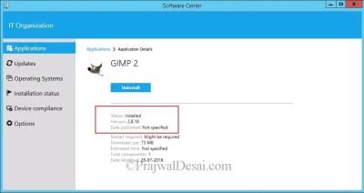 How to deploy GIMP software using SCCM