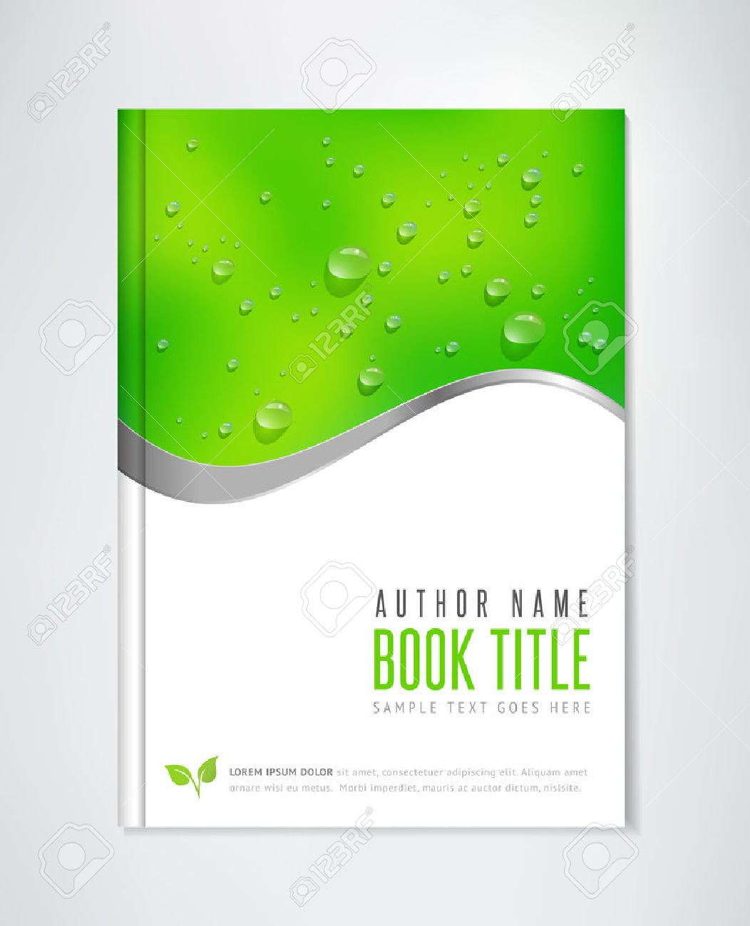 Brochure Design   Vector Template  Can Be Used For Ecological     Brochure Design   vector template  Can be used for ecological themes   organic agriculture