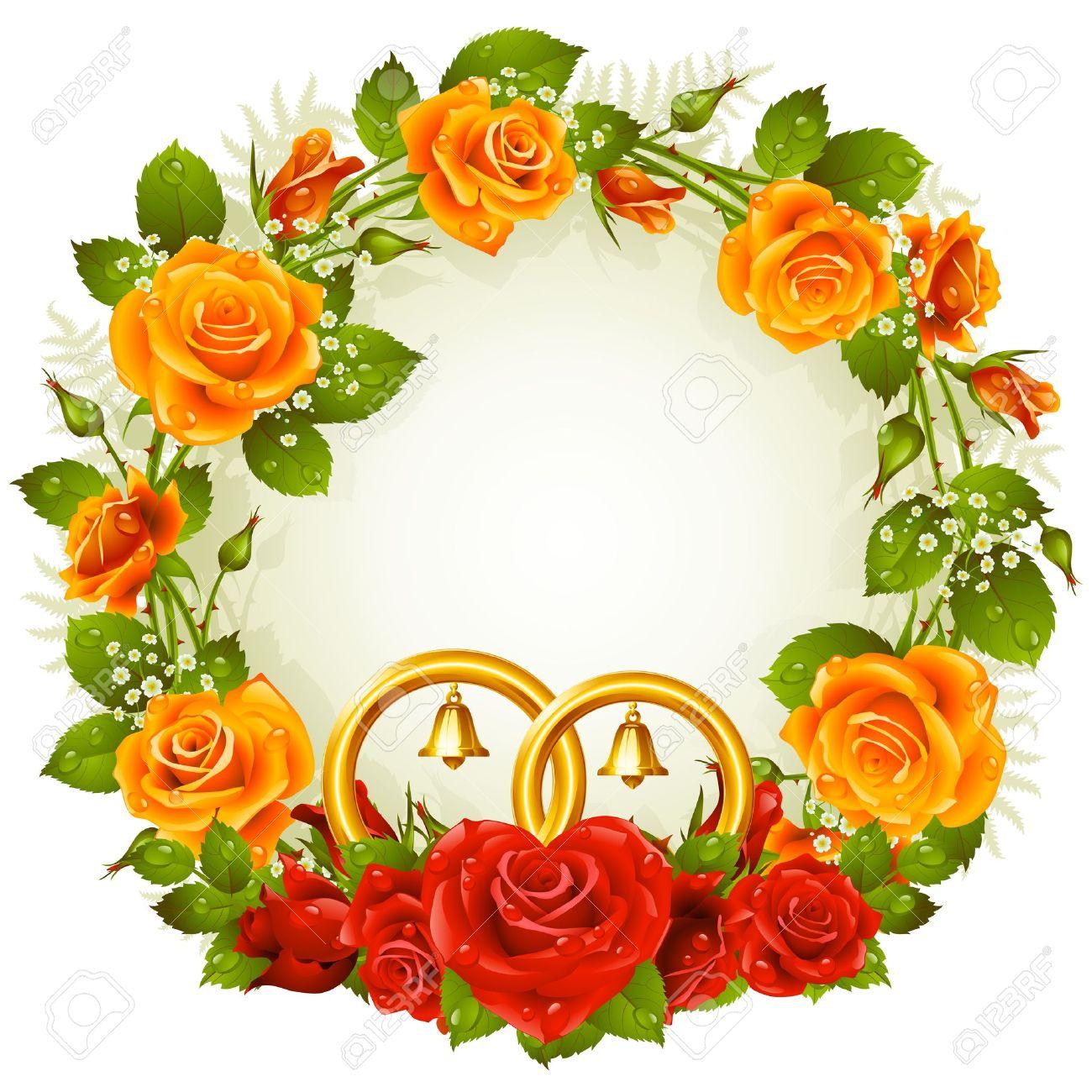 Wedding Rings Roses orange wedding rings Wedding rings and roses