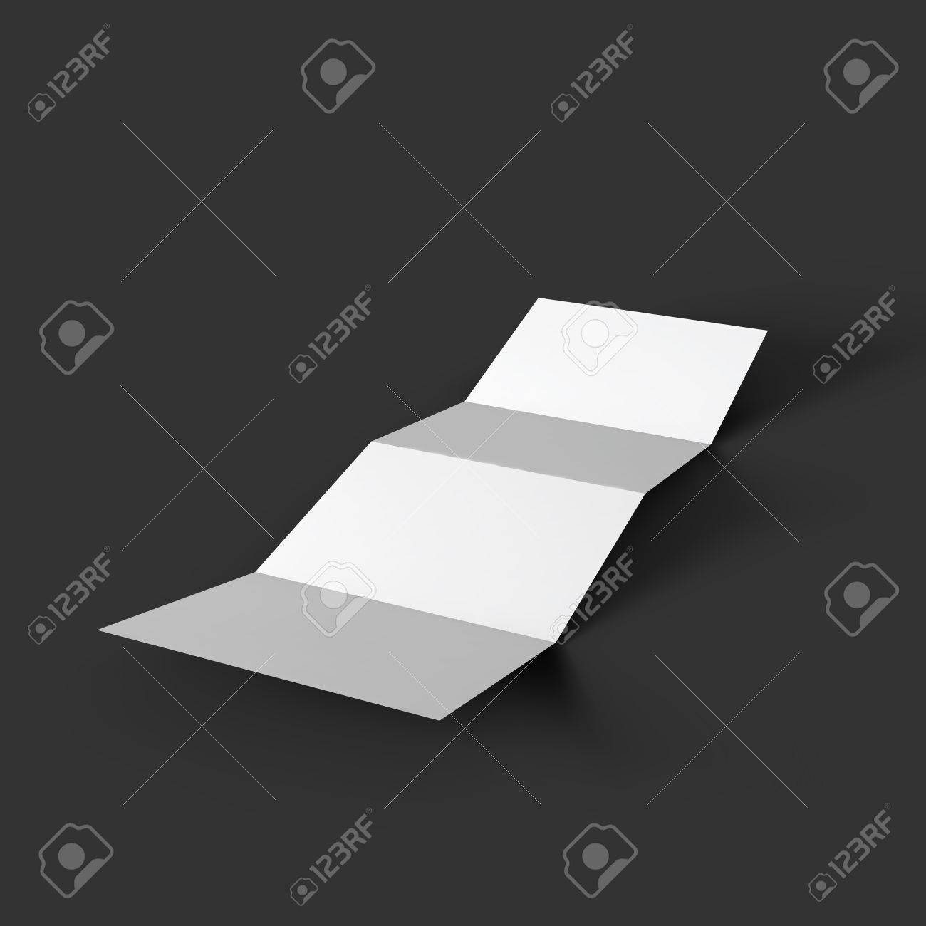Zigzag White 4 Page Brochure Mockup Template  Royalty Free Cliparts     Vector   Zigzag white 4 page brochure mockup template