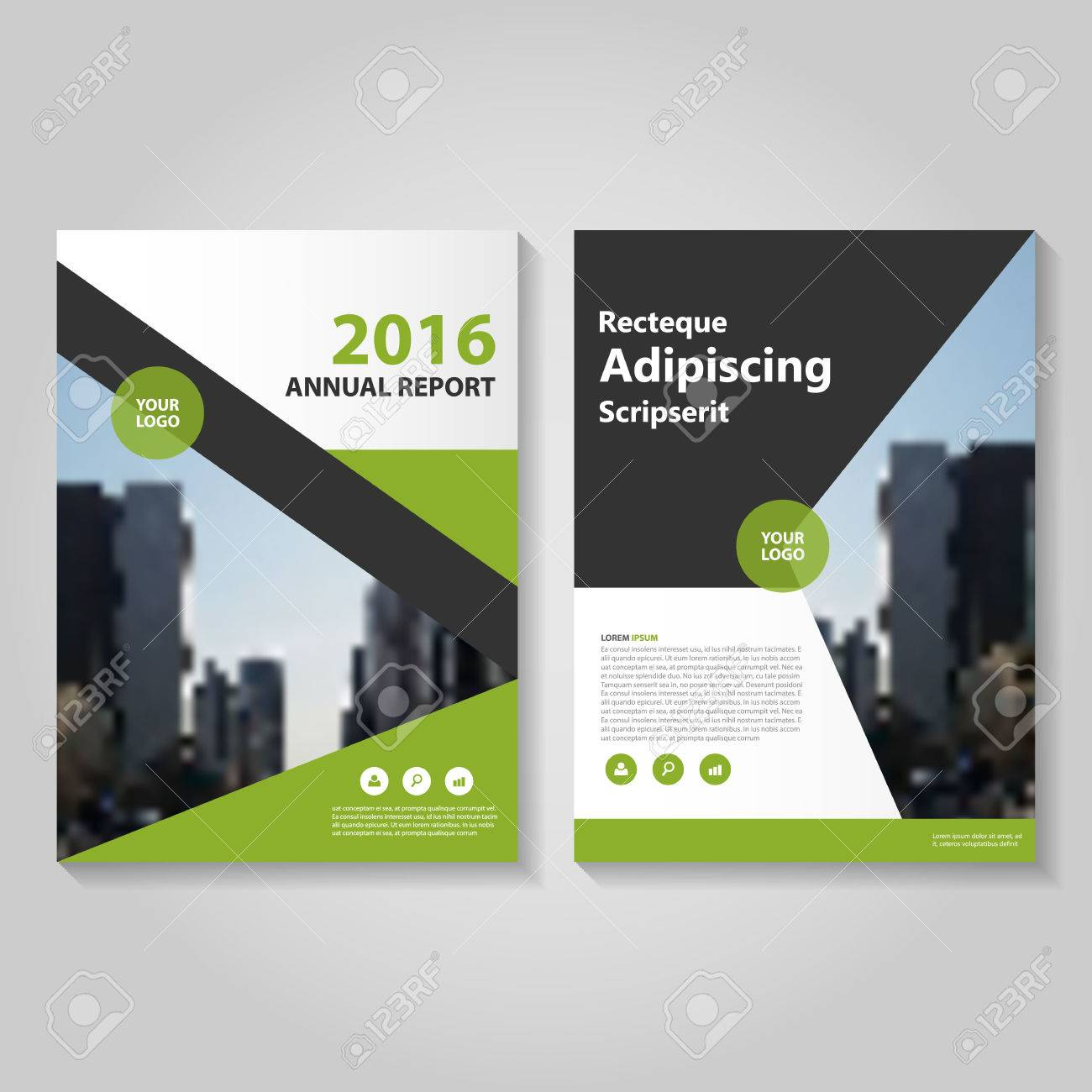 Elegance Green Black Annual Report Leaflet Brochure Template     Elegance Green black annual report Leaflet Brochure template design  book  cover layout design  Abstract