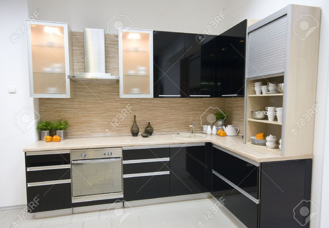 photo the modern kitchen interior design photo kitchen interior design Stock Photo the modern kitchen interior design photo