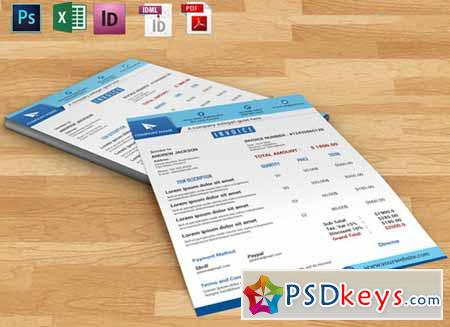 Invoice template 110523      Free Download Photoshop Vector Stock image     Invoice template 110523