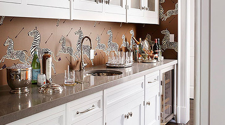 How to Use Wallpaper as a Kitchen Backsplash - PureWow