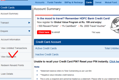 How To Check My Hdfc Credit Card Statement Online | Howtoviews.co