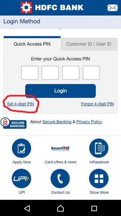 How does HDFC's 'quick access pin' feature on the mobile netbanking app work? - Quora