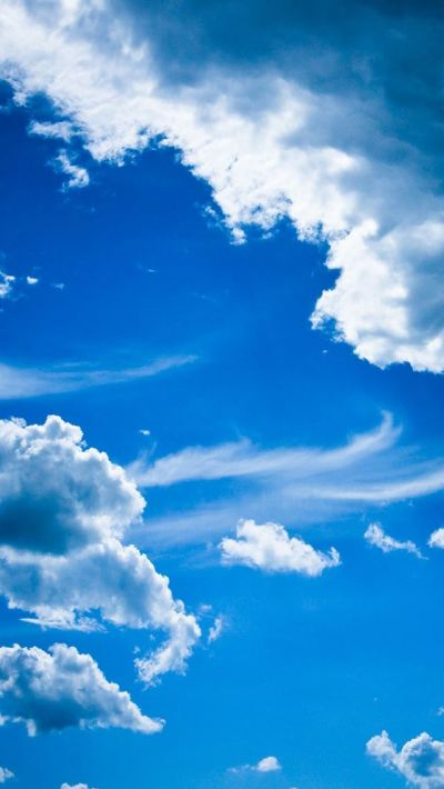 Blue clouds iPhone se Wallpaper Download | iPhone ...