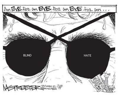 Middle East eye for an eye for an eye, Streeter Cartoon ...