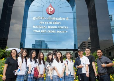 Community Service Club went to Thai Red Cross Blood Center in Pathum Wan