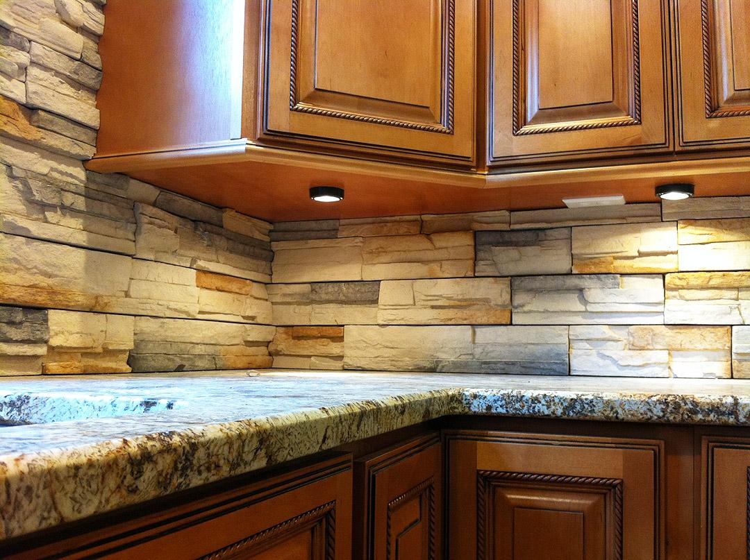 kitchen remodel manassas va kitchen remodeling manassas va Kitchen remodel with medium wood cabinets under cabinet lighting under cabinet outlets and stacked