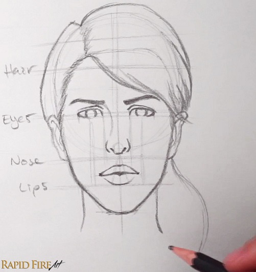 How to Draw Faces for Beginners     SIMPLE   RapidFireArt To finish it off  give her a narrow neck compared to his  A thick neck may  indicate a muscular individual