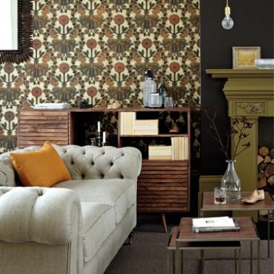 Living Room Wallpaper   Wallpaper - Red Online