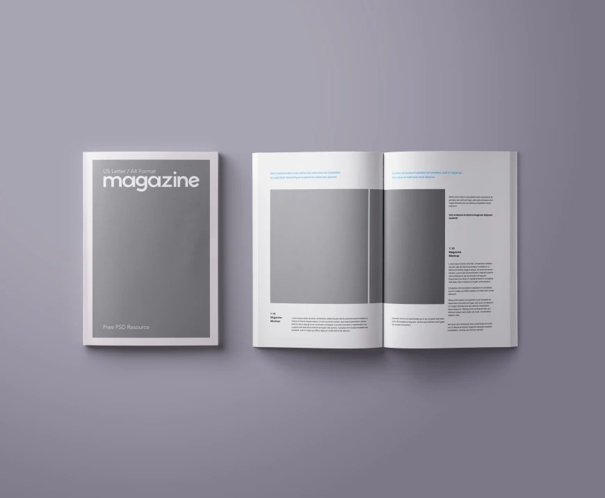 150  Free Book and Logo Mockups for Graphic Designers Ultra Clean PSD Magazine Mockup