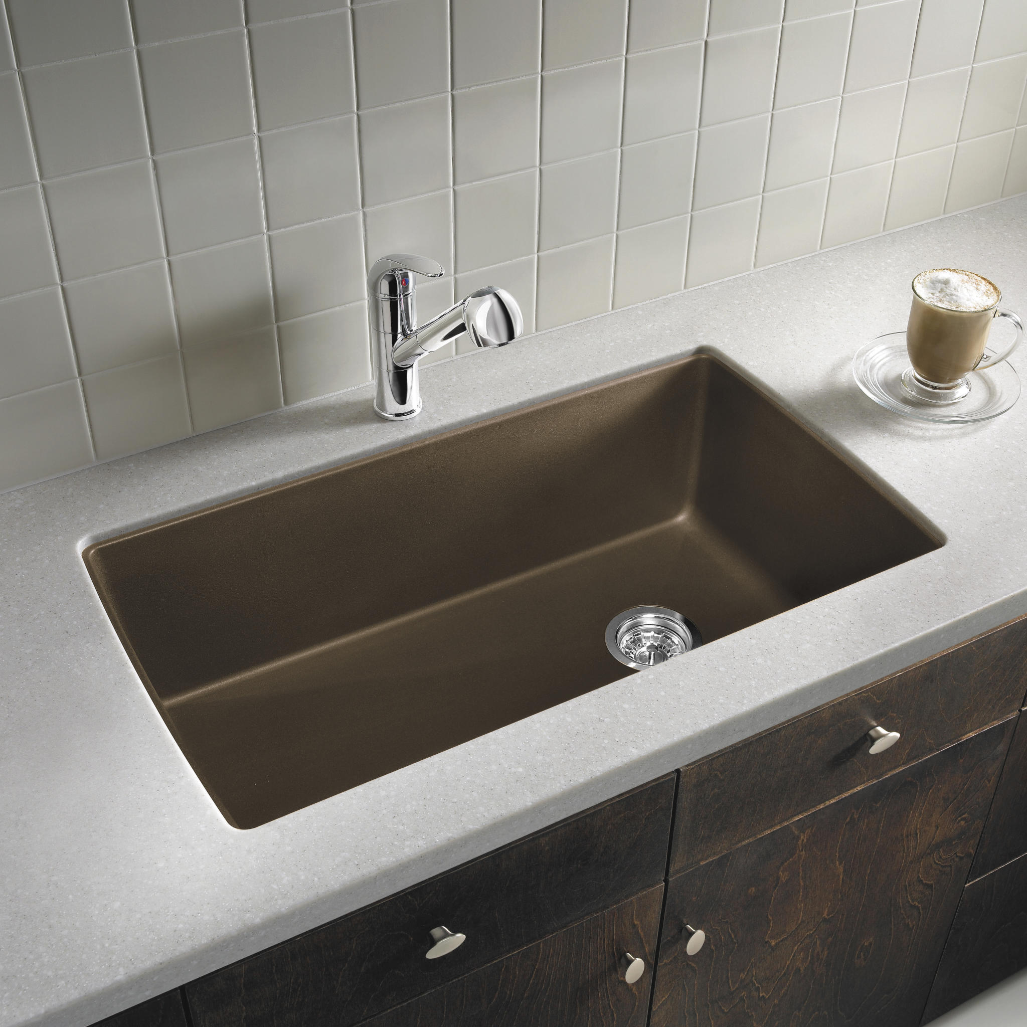 whats right sink size kitchen kitchen sink sizes Blanco 32 1 2 Diamond Super Single Bowl Sink