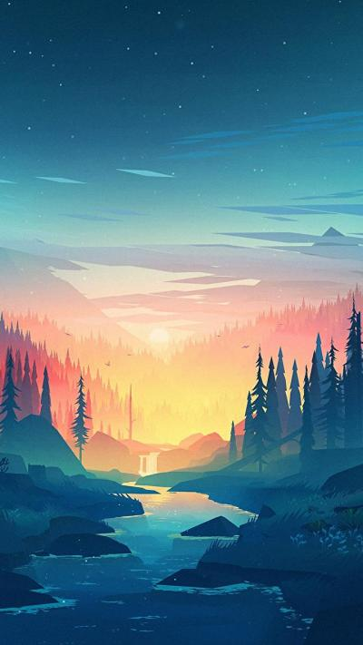 Insane sunset environment wallpaper by Mikael Gustaffson : wallpapers
