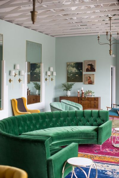 Green Sofa Design Ideas & Pictures For Living Room