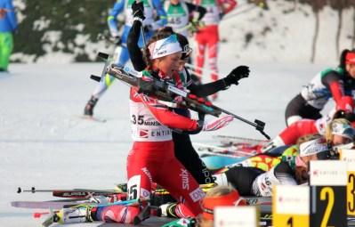 Mari Muan, jaktstart JR-VM Minsk. - Norges Skiskytterforbund