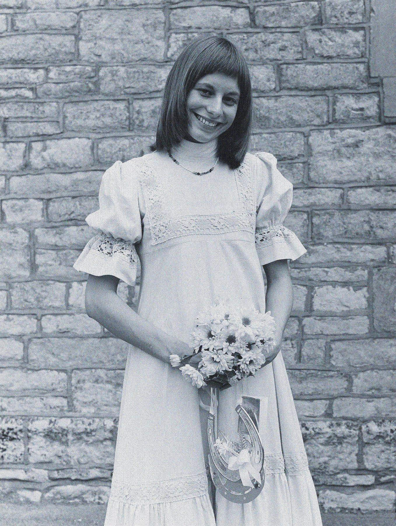 dress in laura and get free entry laura ashley wedding dresses Rose Gallop in her Laura Ashley wedding dress