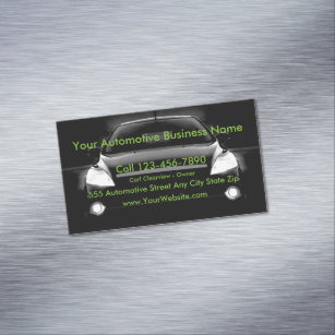 Auto Body Shop Office   School Products   Zazzle ca Automotive Magnetic Business Card