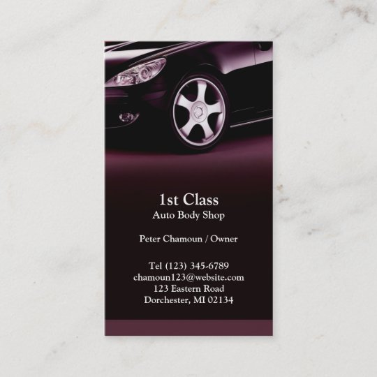 Auto Body Shop Business Card   Zazzle com Auto Body Shop Business Card