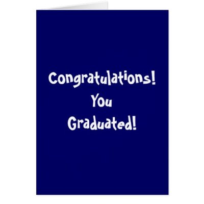 Congratulations! YouGraduated! Card   Zazzle
