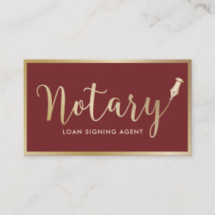 Signing Agent Business Cards | Zazzle