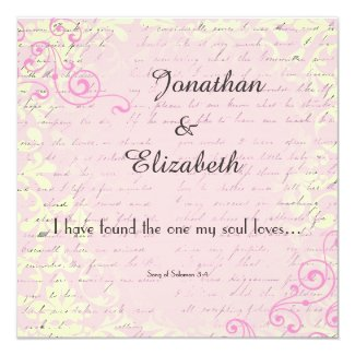 Bible Verse Wedding Invitations for Christian Marriage ...