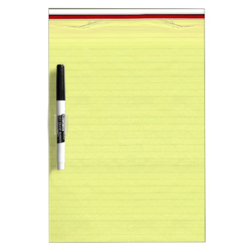 Yellow Lined School Paper Background Dry-Erase Whiteboard | Zazzle