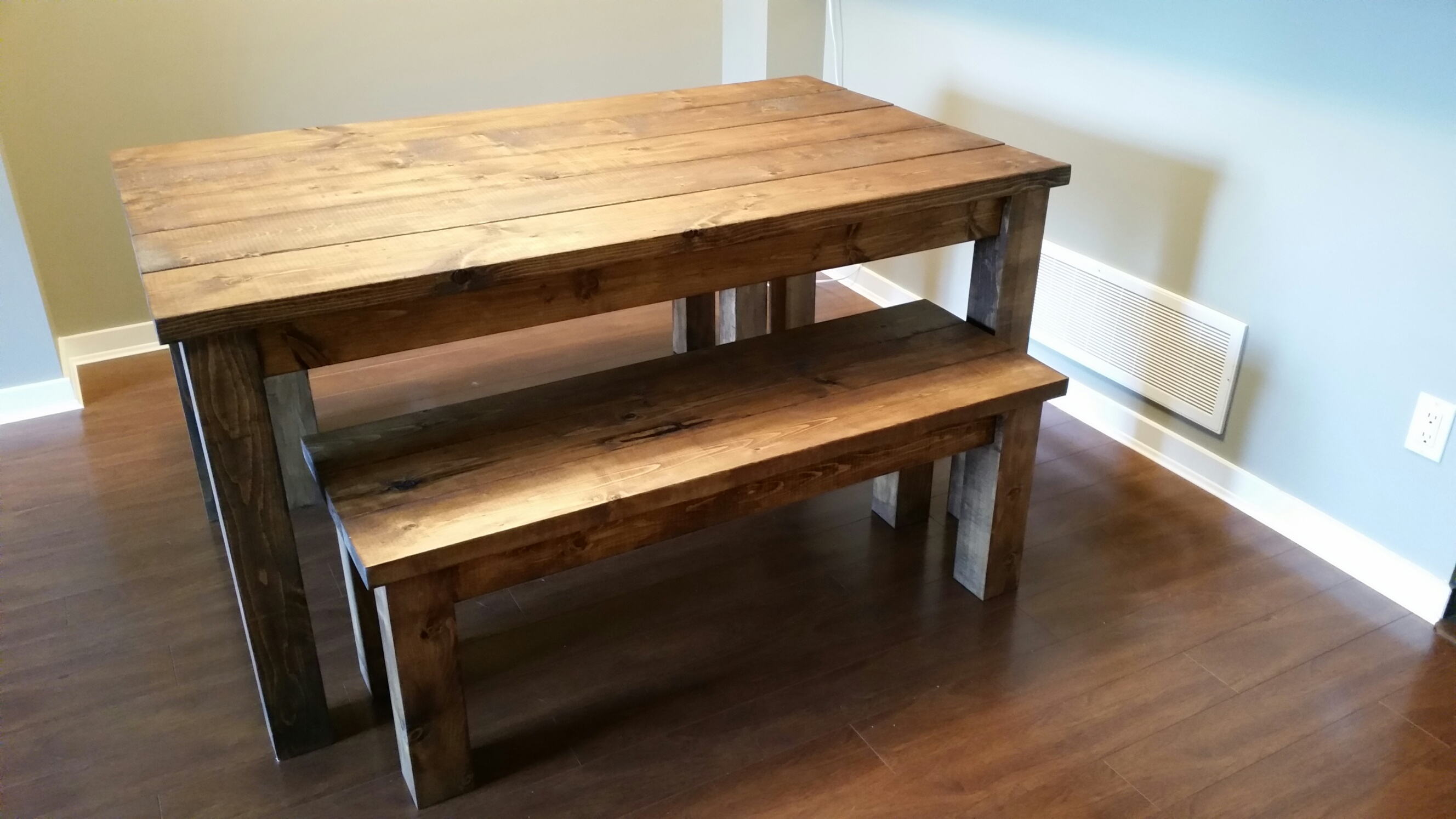 benches dining tables kitchen table with benches Provincial Pine Table and Bench set1