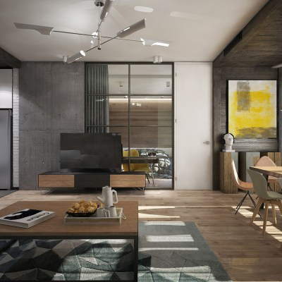 Awesome New York Style Apartment Interior Design With Open ...
