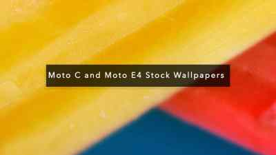 [Download] Moto C and Moto E4 Stock Wallpapers In HD Quality