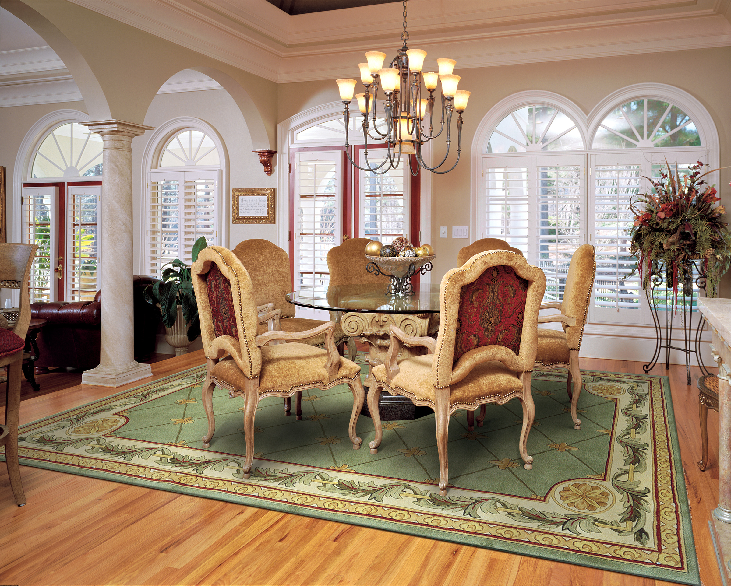 the best size for your dining room rug kitchen table rugs Leave
