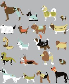 Retro dog print, a must have hound wallpaper?