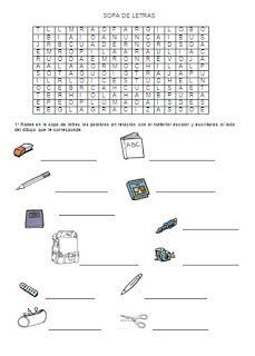 1000+ images about En el colegio: horario, asignaturas, material on Pinterest   School materials ...