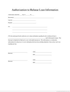 Printable authorization to release information template 2015 | Sample Forms 2015 | Pinterest ...