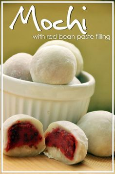 Delicious Japanese mochi -- sweet rice and red bean New Years treats guarantee a sweet New Years ...