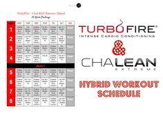 beachbody turbo fire schedule pdf - Google Search ...