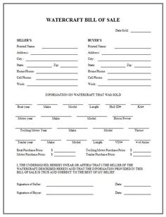 Printable Sample Printable Bill of sale for travel trailer Form   Laywers Template Forms Online ...