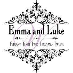 EXAMPLE ONLY - Monogram classical wedding monogram Design ...