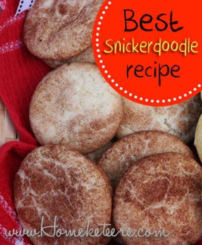 Best Ever Snickerdoodle Cookie Recipe | Bloggers Favorite Recipes - Stockpiling Moms | Pinterest ...