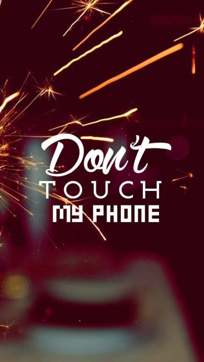 Don't touch! Tap to see more Don't Touch My Phone iPhone wallpapers, backgrounds, fondos ...