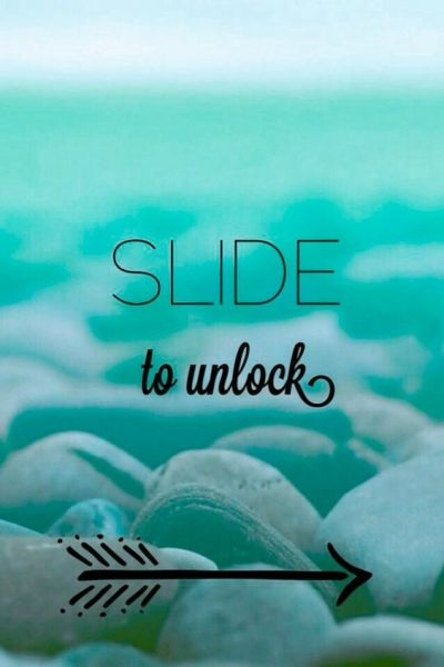 Slide to unlock blue iphone wallpaper | Cute | Pinterest ...