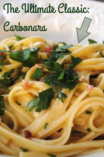 Pasta carbonara, The cheese and Pro tip on Pinterest