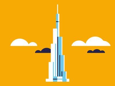 Burj Khalifa, known as Burj Dubai before its inauguration ...