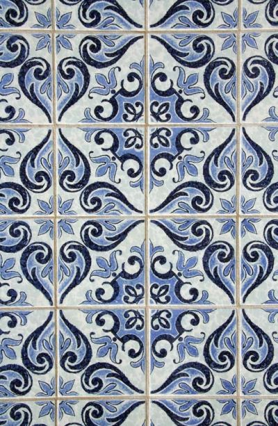 Blue Patterned