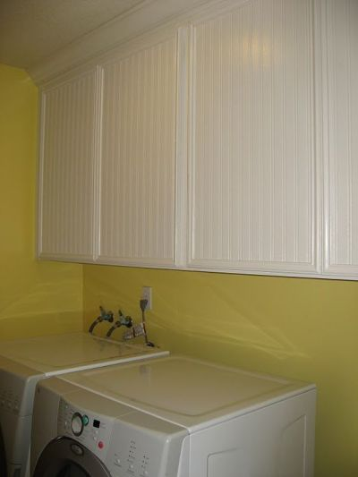 beadboard wallpaper on laminate cabinets | Home ideas | Pinterest | Wallpapers, Laundry Rooms ...