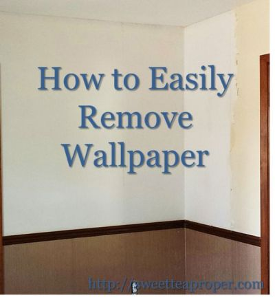 How to Remove Wallpaper (Easy) | Removing Wallpaper | DIY Home Renovation | Home DIY | Pinterest ...